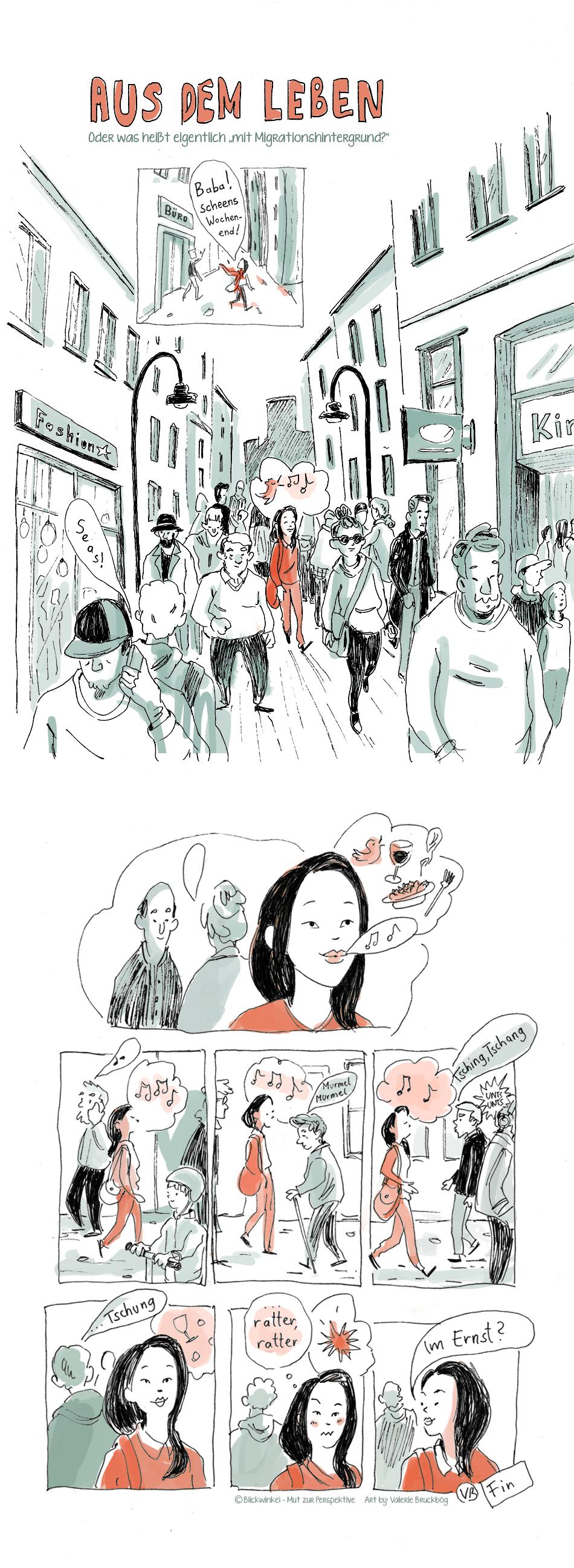 Aus dem Leben ist eine Comic Reihe von Blickwinkel - Mut zur Perspektive. Die Comics möchten Anhand von Anekdoten herausfinden, was es denn bedeutet einen sogenannten