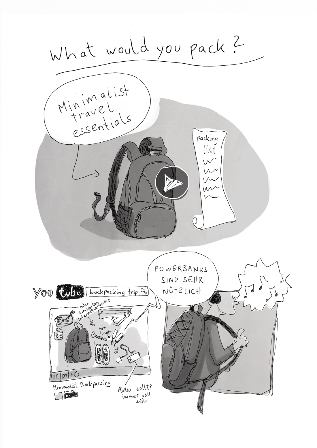 Comic über einen syrischen Flüchtling
