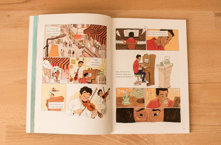 Aeham Ahmad Klavierspieler in den Blickwinkel Comics