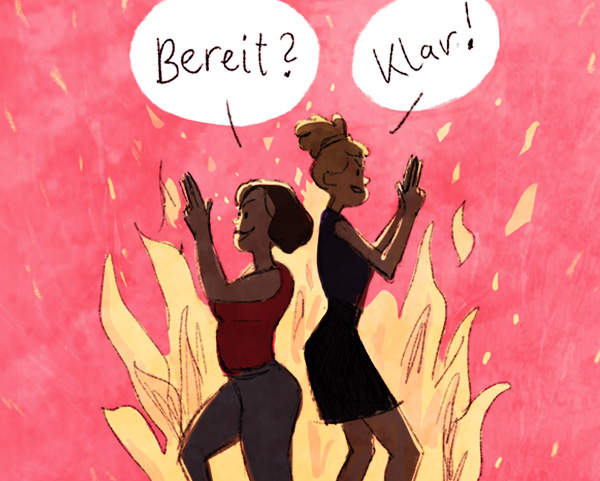 Comic zu Frauenpower valerie bruckboeg Illustration