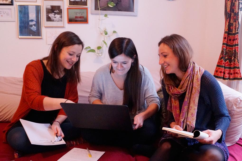 Blickwinkel Team, Kathrin Kaisinger, Valerie Bruckboeg und Anna Achleitner