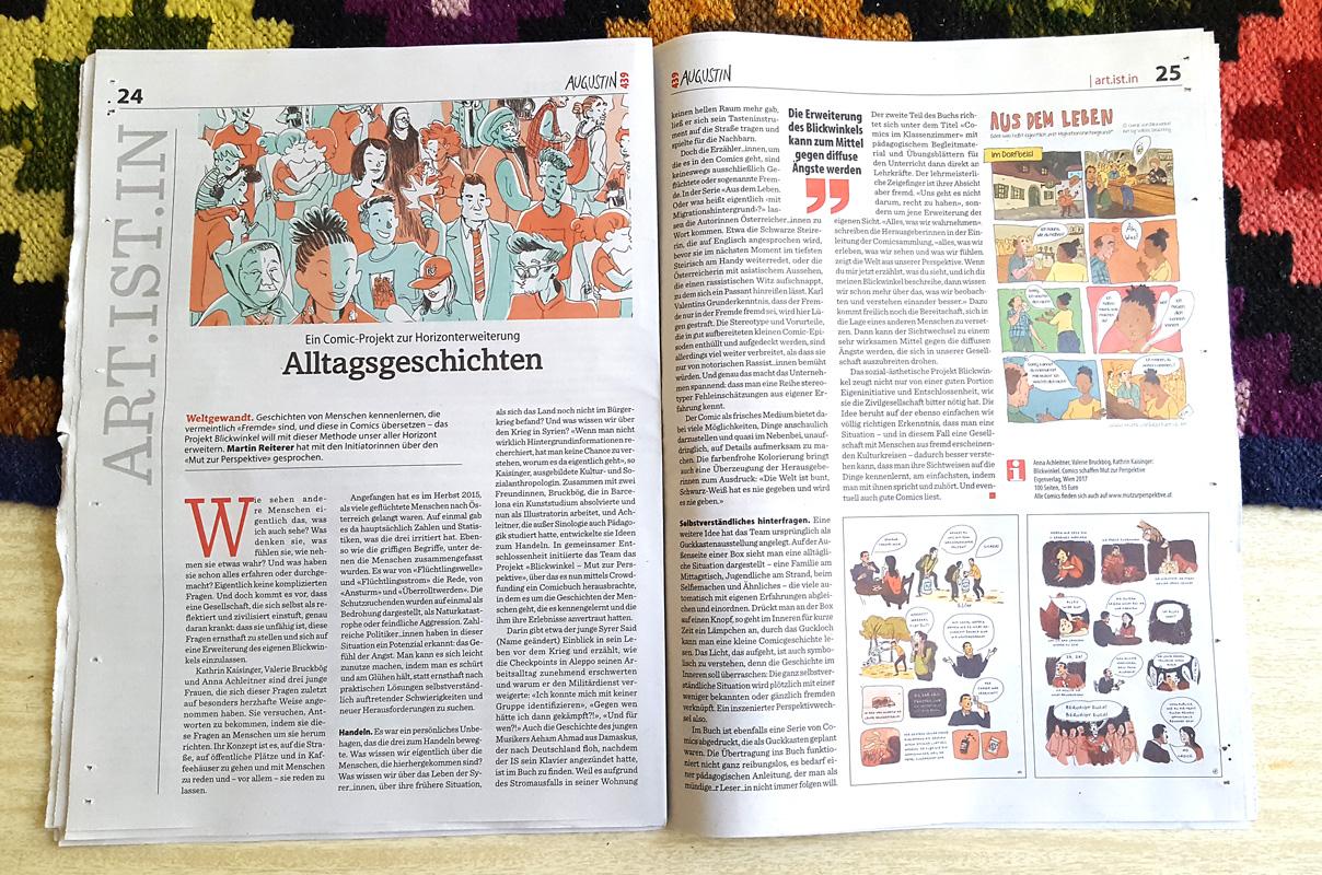 Augustin Straßenzeitung Wien Bericht Comics